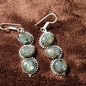 925 Silver and Laboradorite earrings